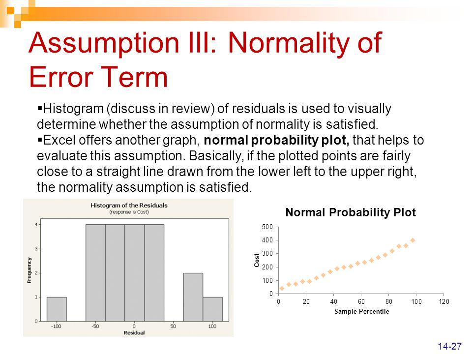 Assumption III: Normality of Error Term