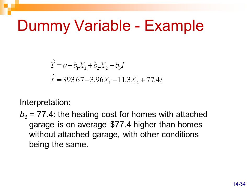 Dummy Variable - Example