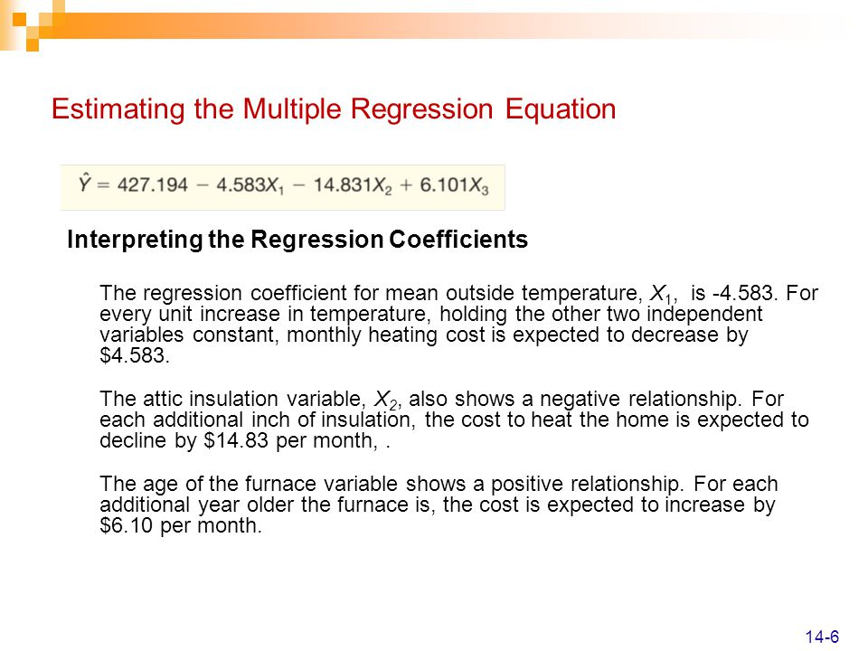 Estimating the Multiple Regression Equation