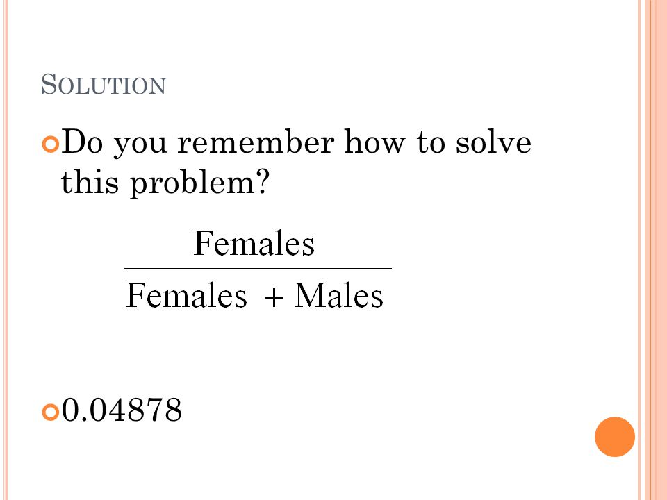 Do you remember how to solve this problem
