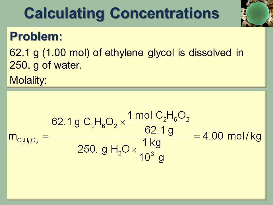 Calculating Concentrations
