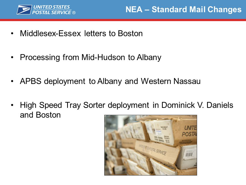 NEA – Standard Mail Changes