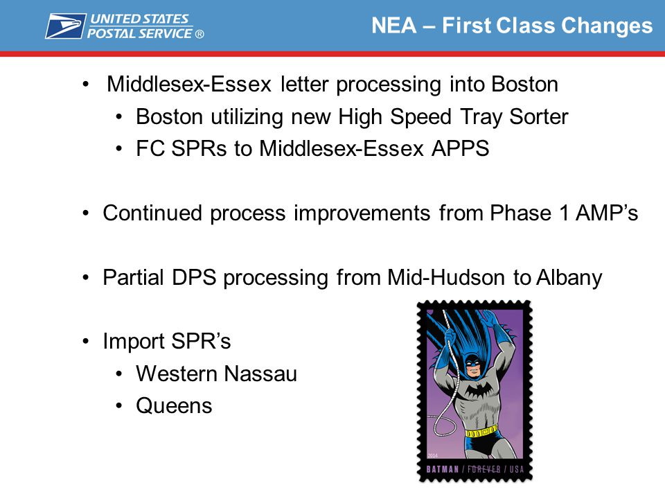 NEA – First Class Changes
