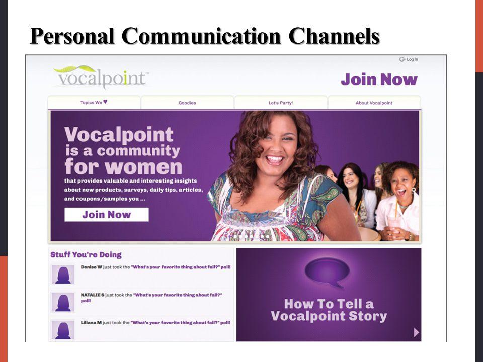 Personal Communication Channels
