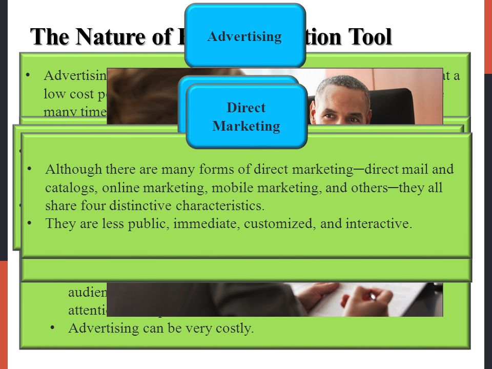 The Nature of Each Promotion Tool