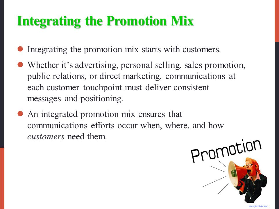 Integrating the Promotion Mix