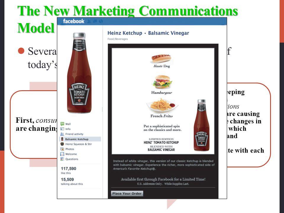The New Marketing Communications Model