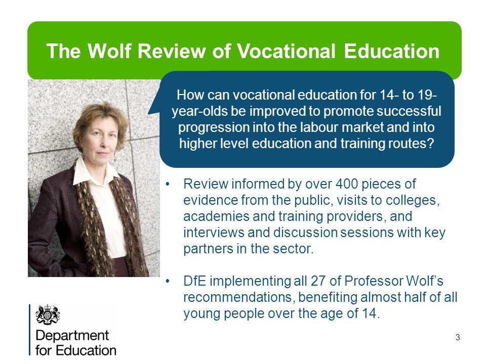 The Wolf Review of Vocational Education