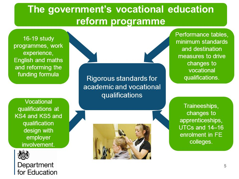 The government's vocational education reform programme
