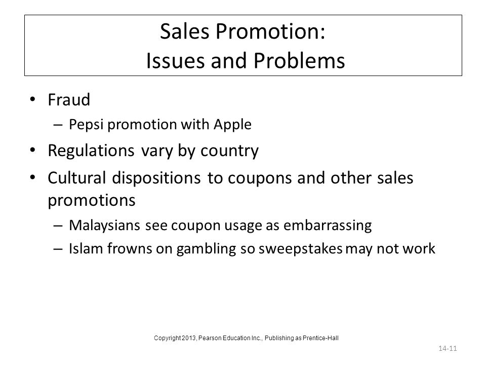 Sales Promotion: Issues and Problems
