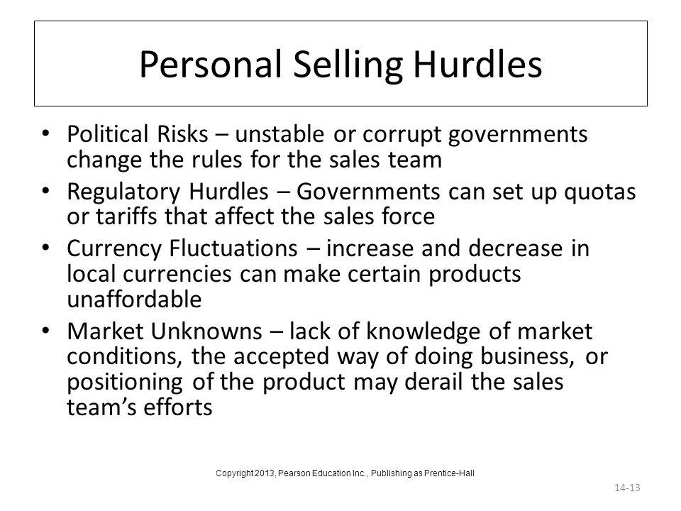 Personal Selling Hurdles