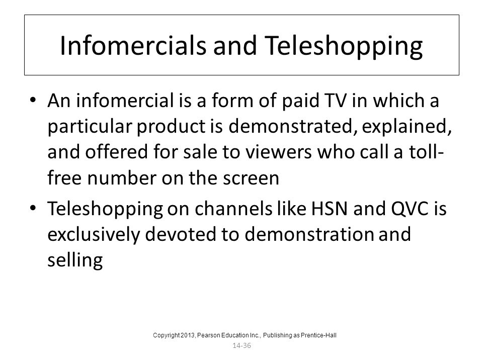 Infomercials and Teleshopping
