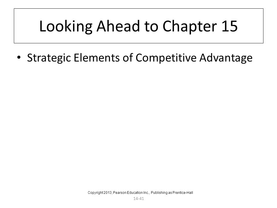 Looking Ahead to Chapter 15