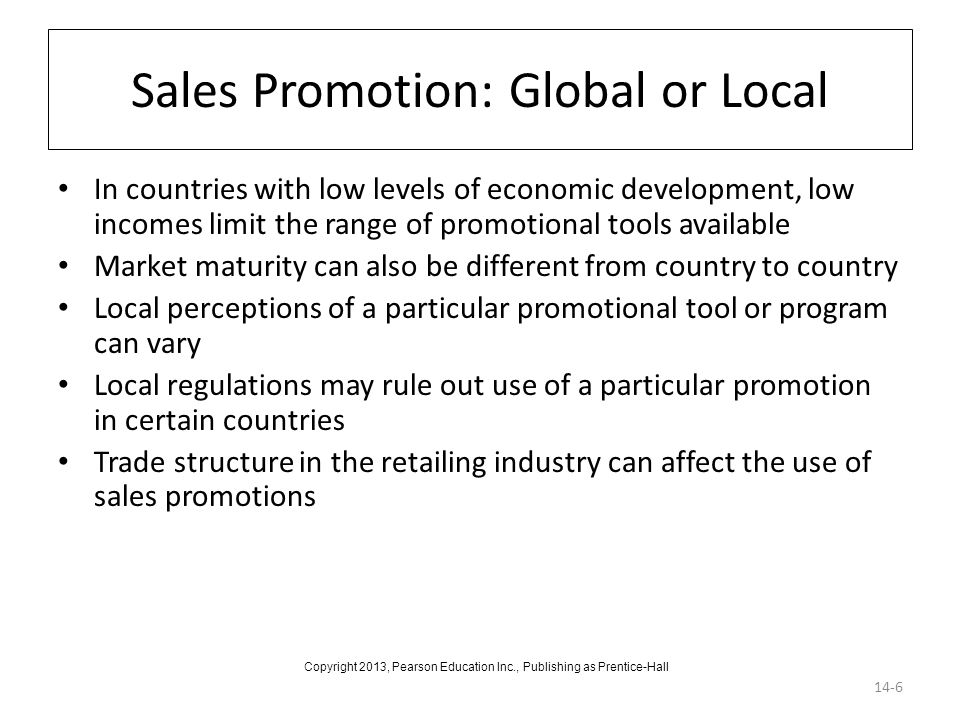 Sales Promotion: Global or Local