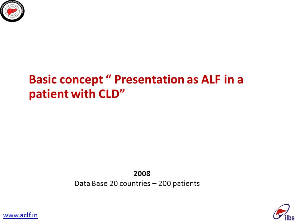 Basic concept Presentation as ALF in a patient with CLD