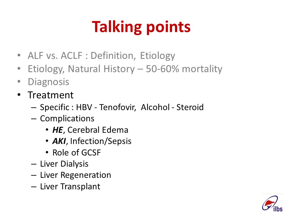 Talking points ALF vs. ACLF : Definition, Etiology