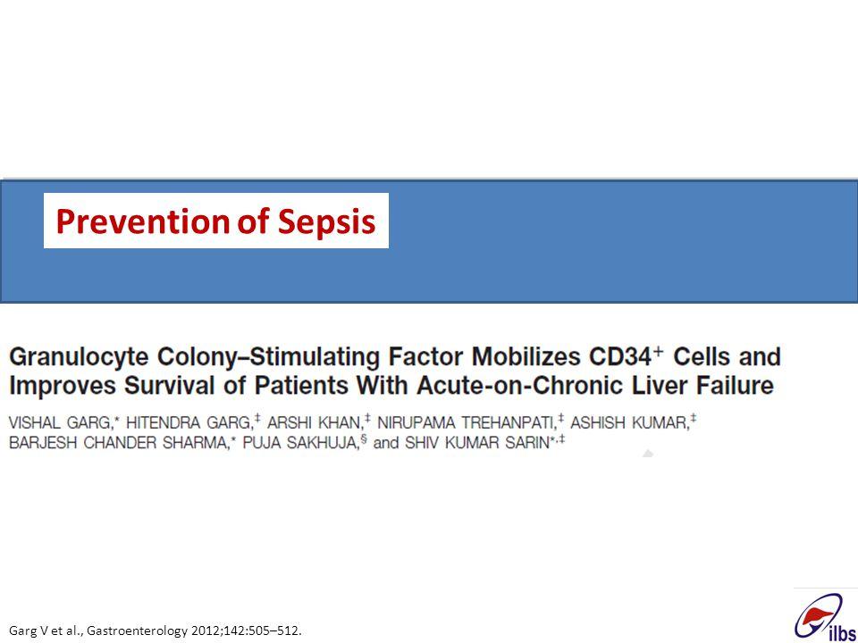 Prevention of Sepsis Garg V et al., Gastroenterology 2012;142:505–512.