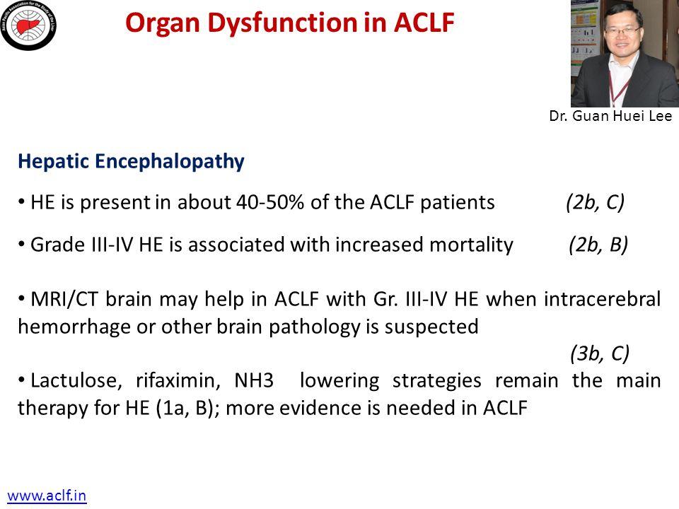 Organ Dysfunction in ACLF
