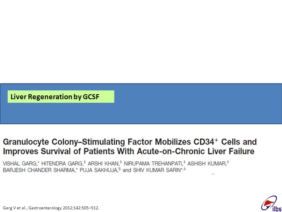 Liver Regeneration by GCSF