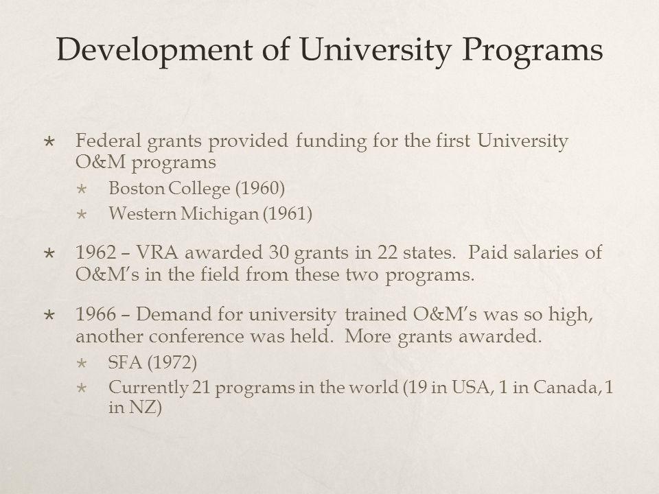 Development of University Programs