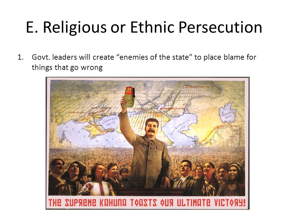 E. Religious or Ethnic Persecution