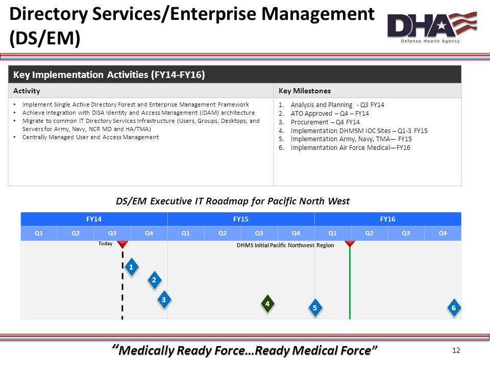 Directory Services/Enterprise Management (DS/EM)