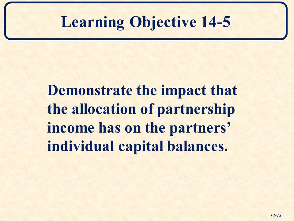 Learning Objective 14-5 Demonstrate the impact that