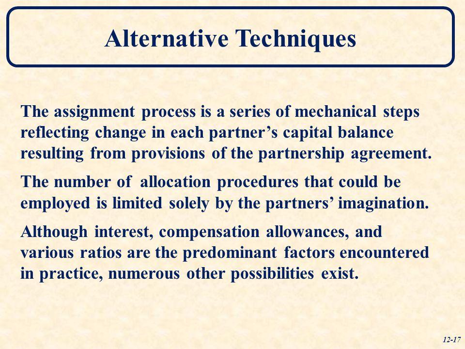 Alternative Techniques