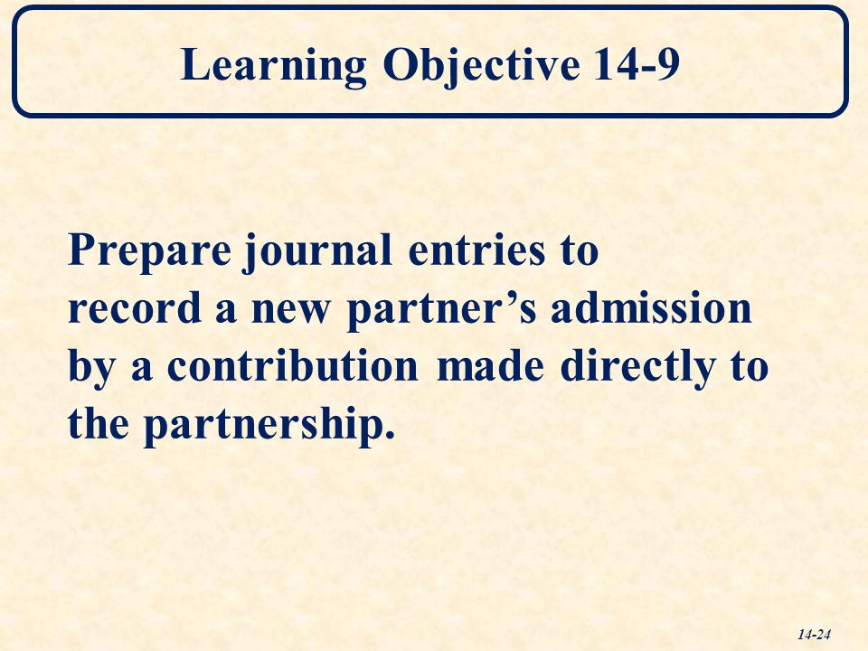 Learning Objective 14-9 Prepare journal entries to.