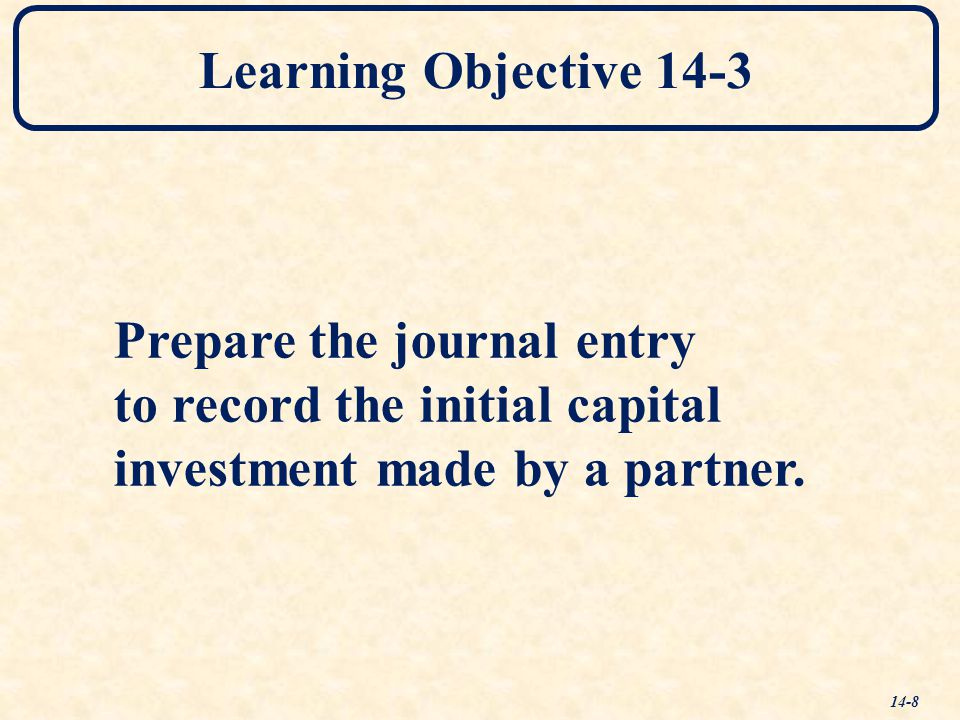 Learning Objective 14-3 Prepare the journal entry.