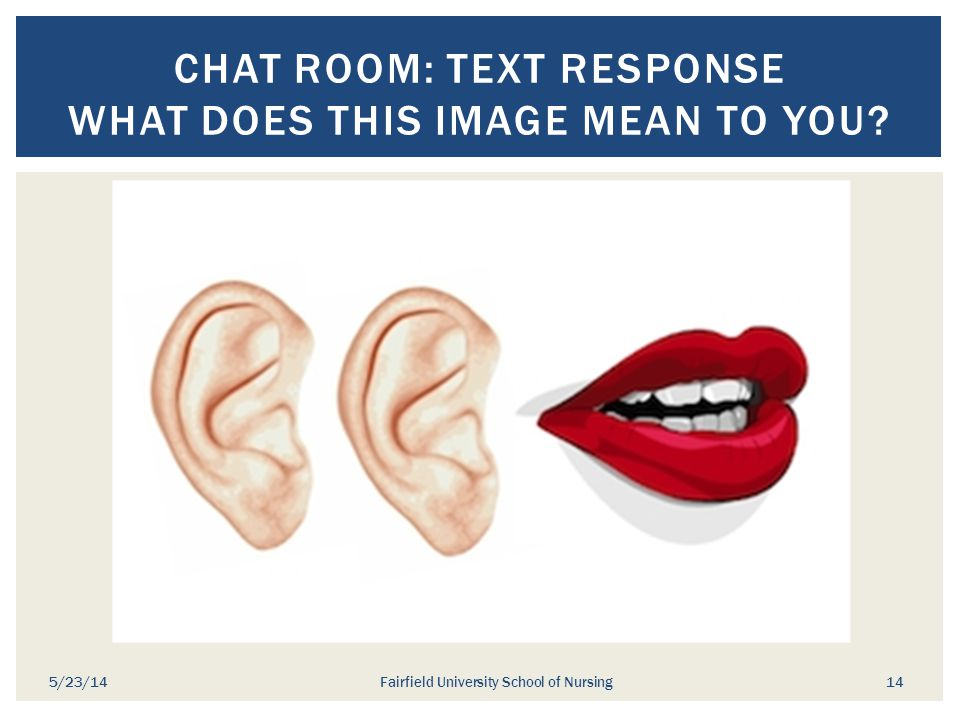 Chat Room: Text Response What does this image mean to you