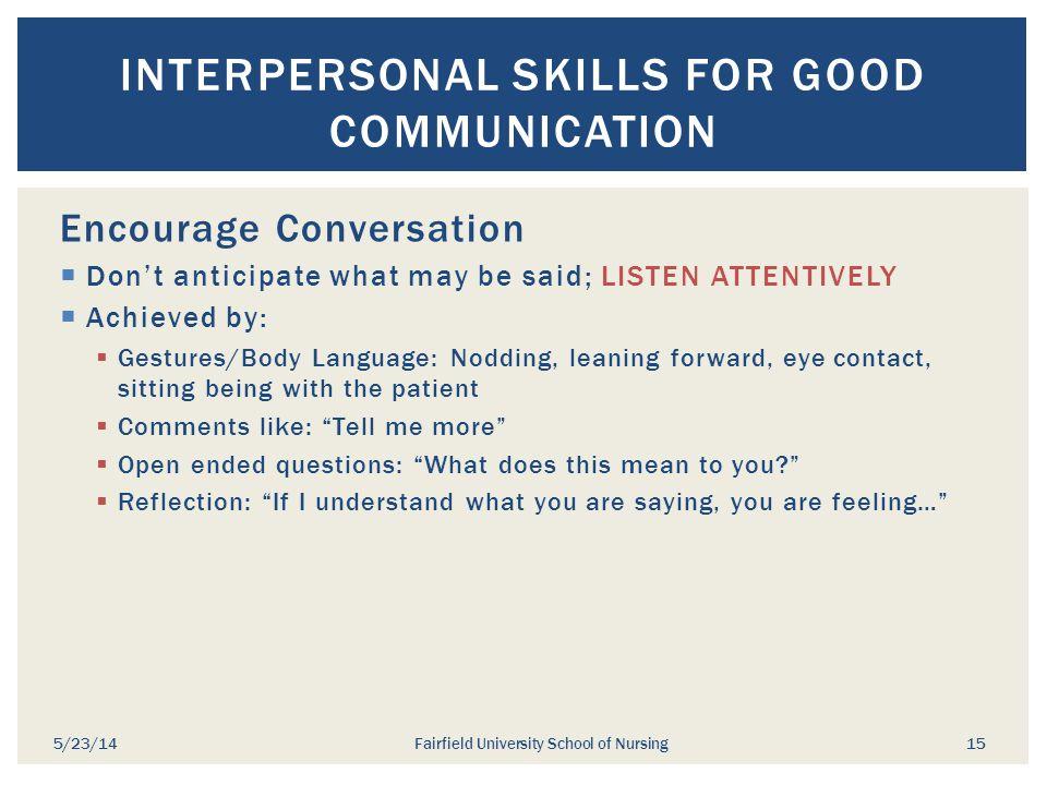 Interpersonal Skills for Good Communication