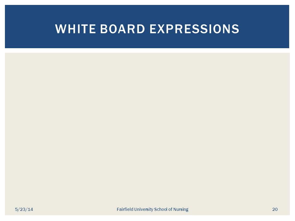 White Board Expressions