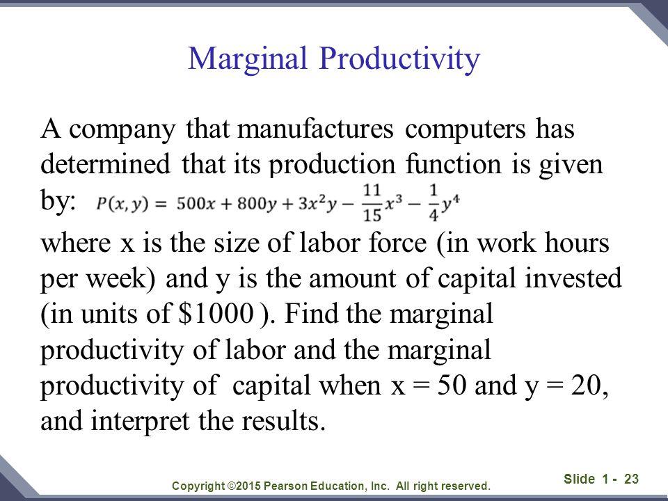 Marginal Productivity