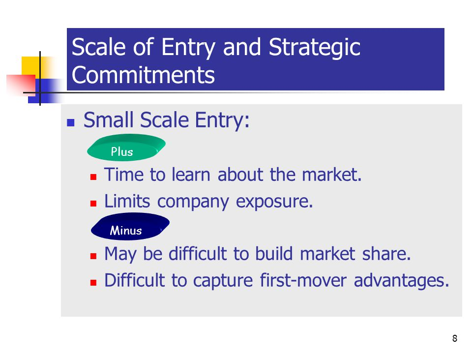 Scale of Entry and Strategic Commitments