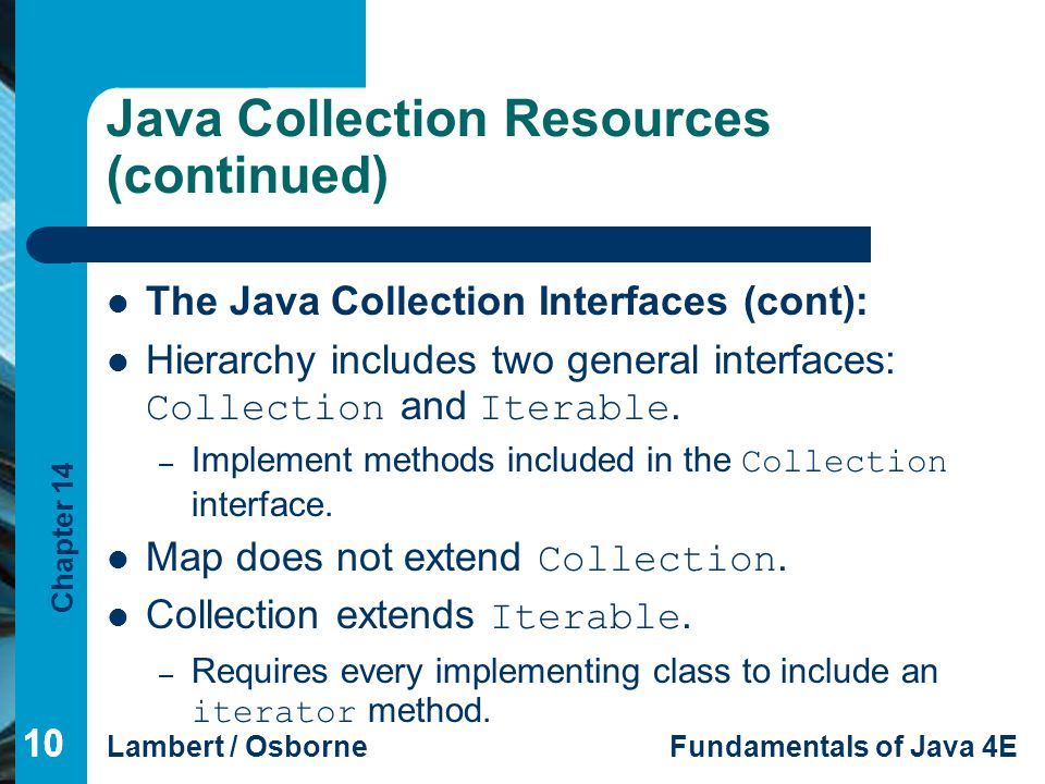 Java Collection Resources (continued)