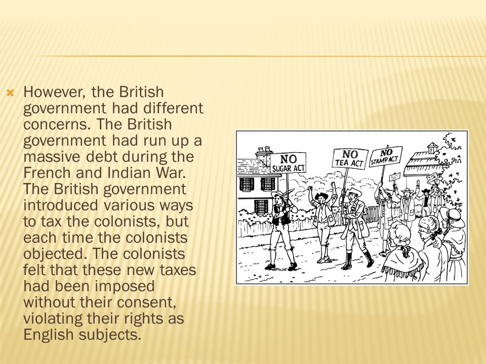 However, the British government had different concerns