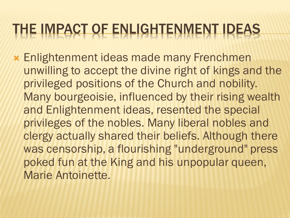 The Impact of Enlightenment Ideas