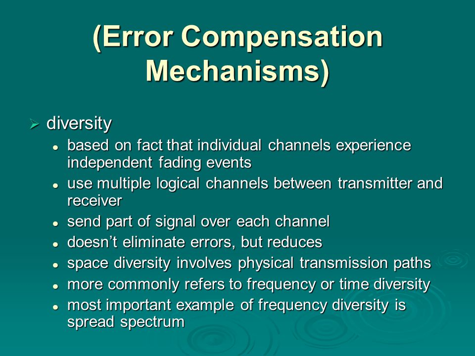 (Error Compensation Mechanisms)