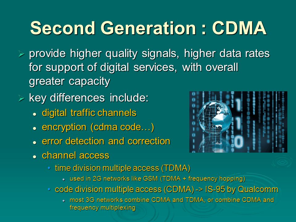 Second Generation : CDMA