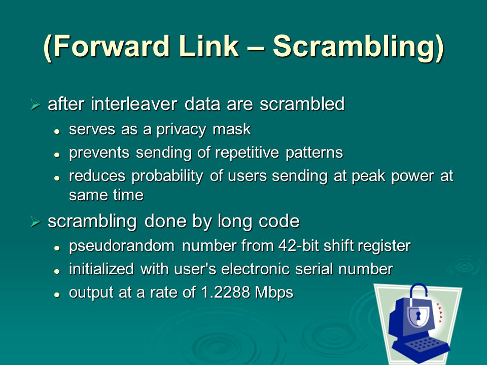 (Forward Link – Scrambling)