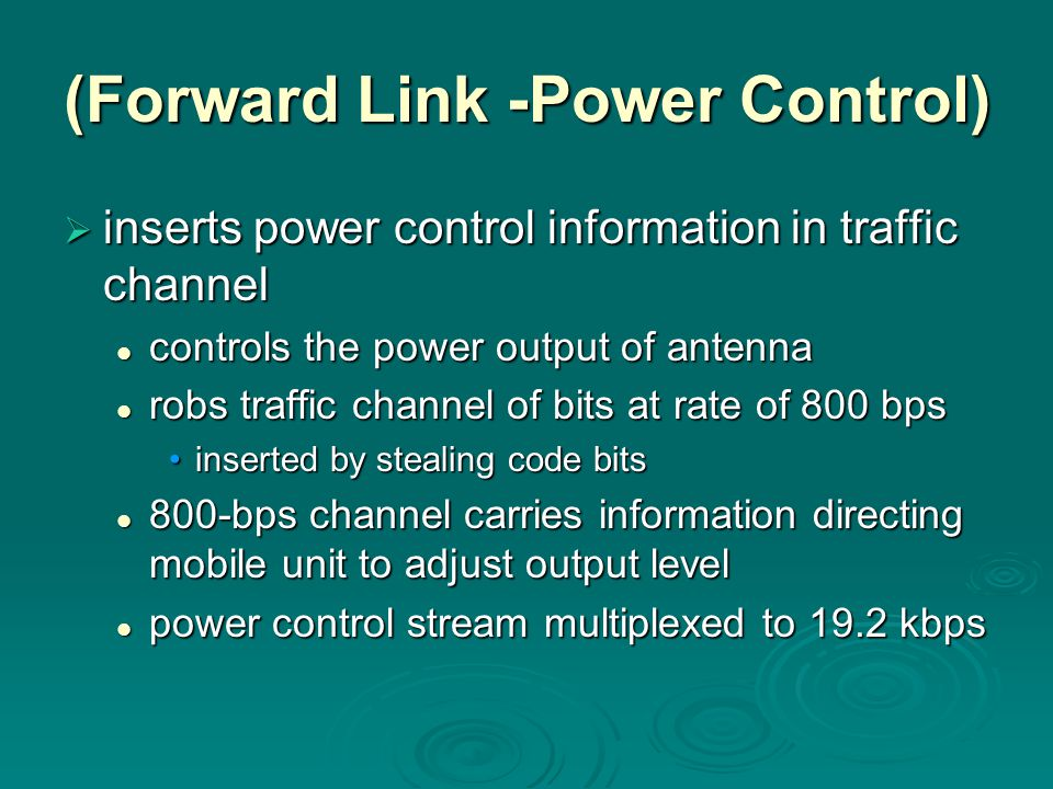 (Forward Link -Power Control)