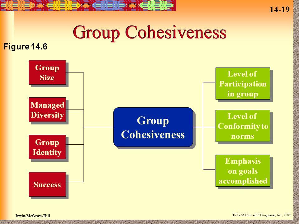 Group Cohesiveness Cohesiveness Figure 14.6 Group Size Participation