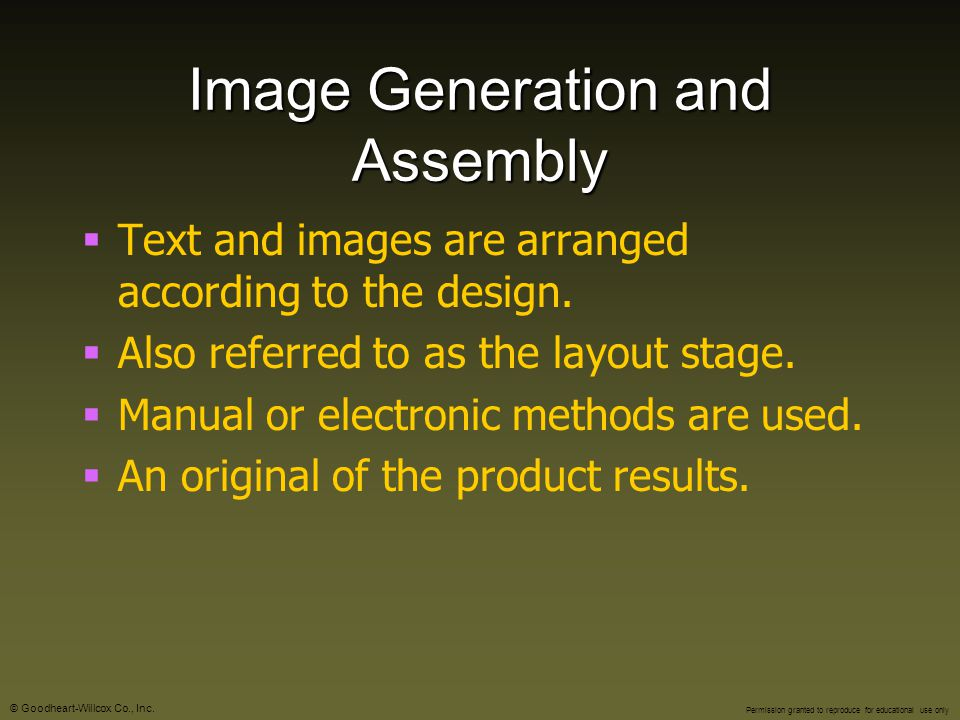 Image Generation and Assembly