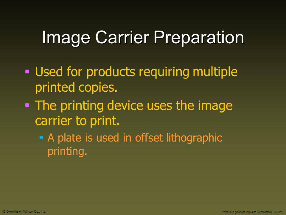 Image Carrier Preparation