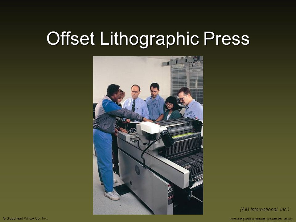 Offset Lithographic Press