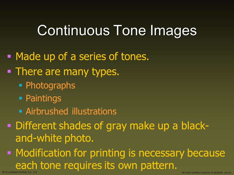 Continuous Tone Images