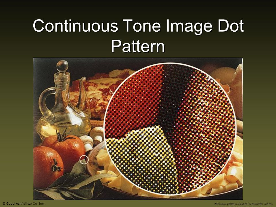 Continuous Tone Image Dot Pattern