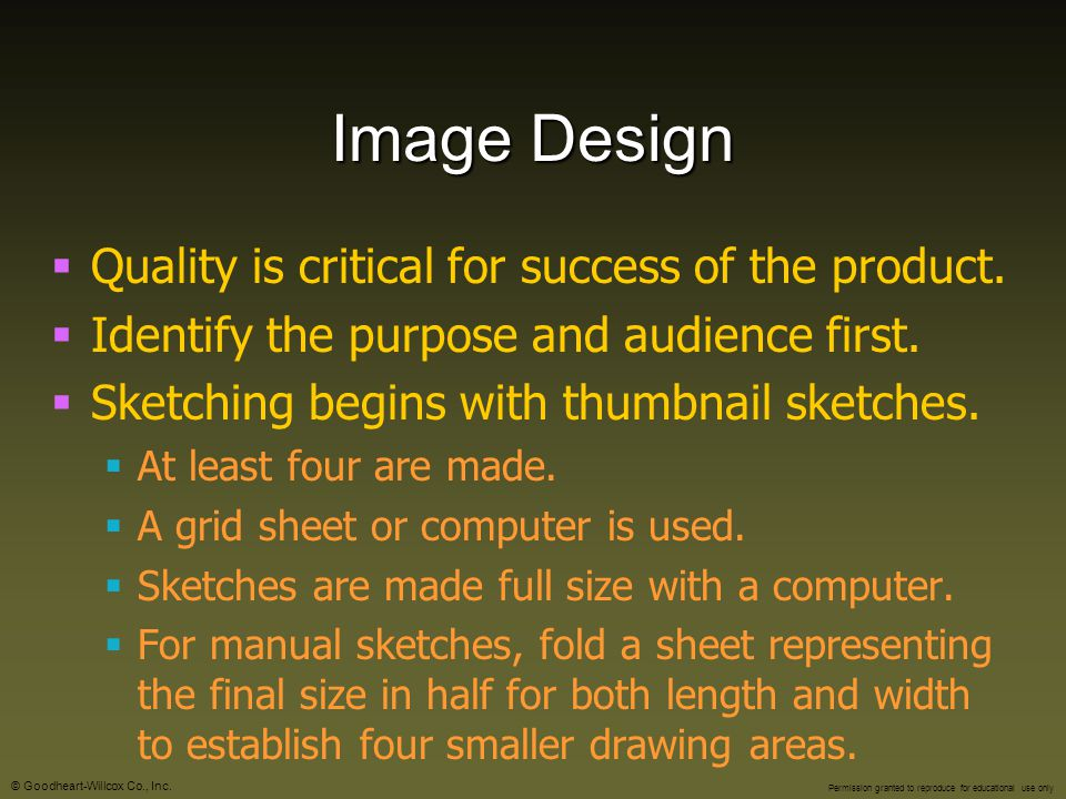 Image Design Quality is critical for success of the product.