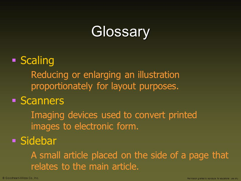 Glossary Scaling Scanners Sidebar